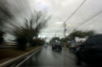 Correndo na chuva